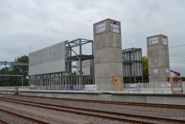 Cambridge North lift shafts